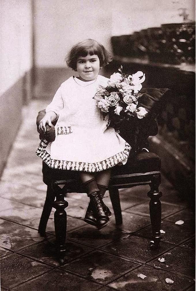 Aos 4 anos, em 1911.