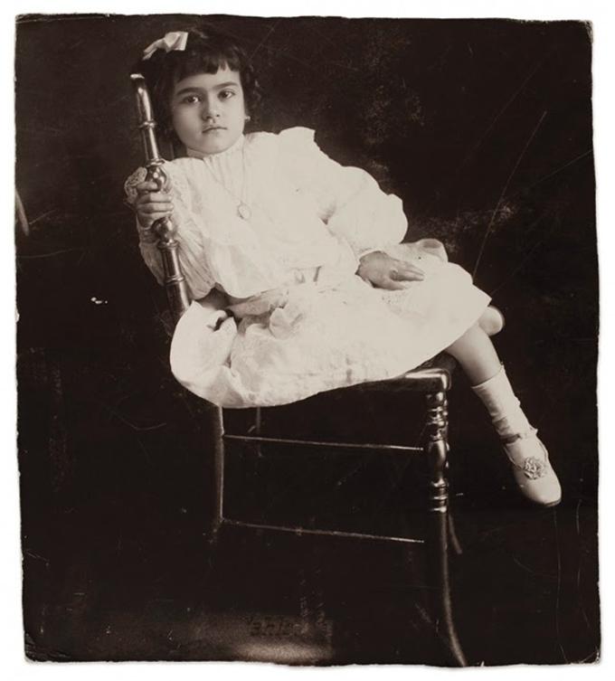 Aos 5 anos, em 1912.