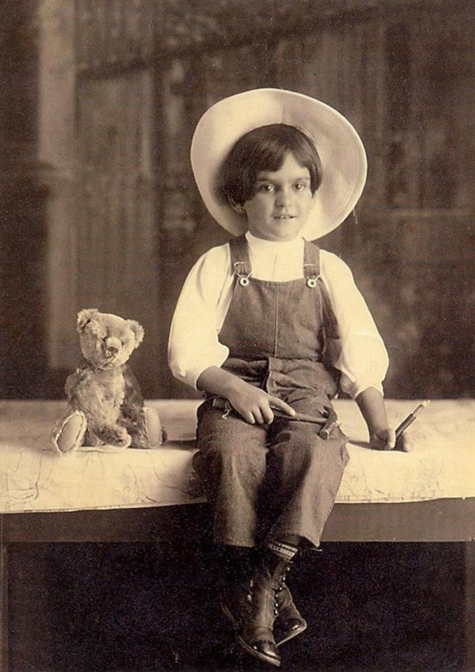 Aos 6 anos, em 1913