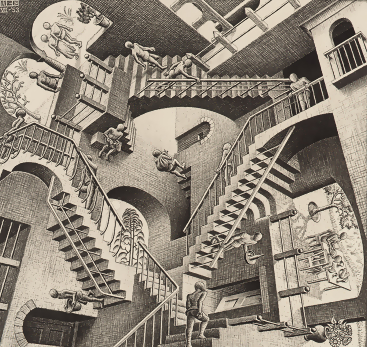 Relatividade-M.C.-Escher-Foundation-Baarn-Netherlands